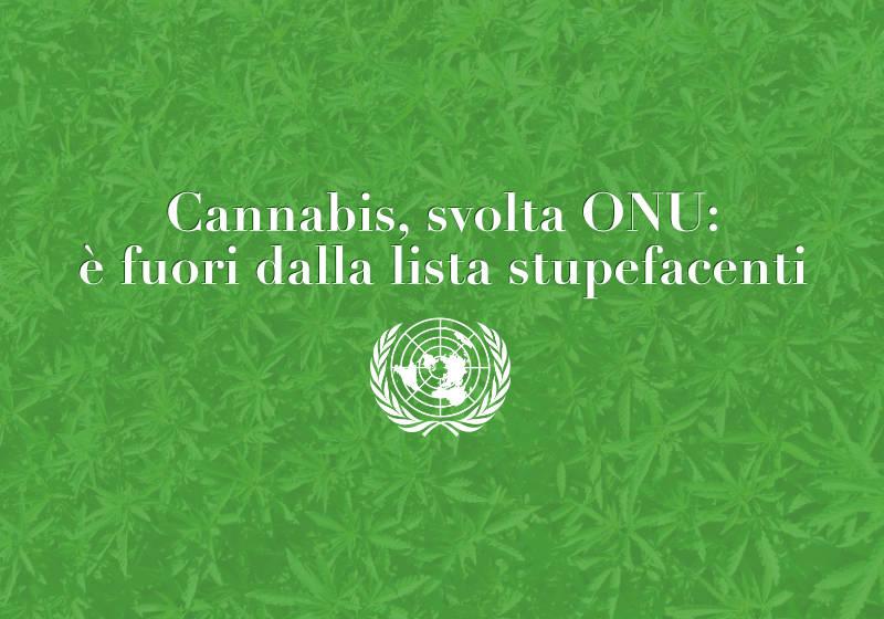 Cannabis, svolta ONU: è fuori dalla lista stupefacenti