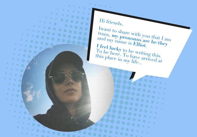 L'annuncio social di Elliot Page,conosciuto fino ad allora come Ellen: la straordinaria confessione