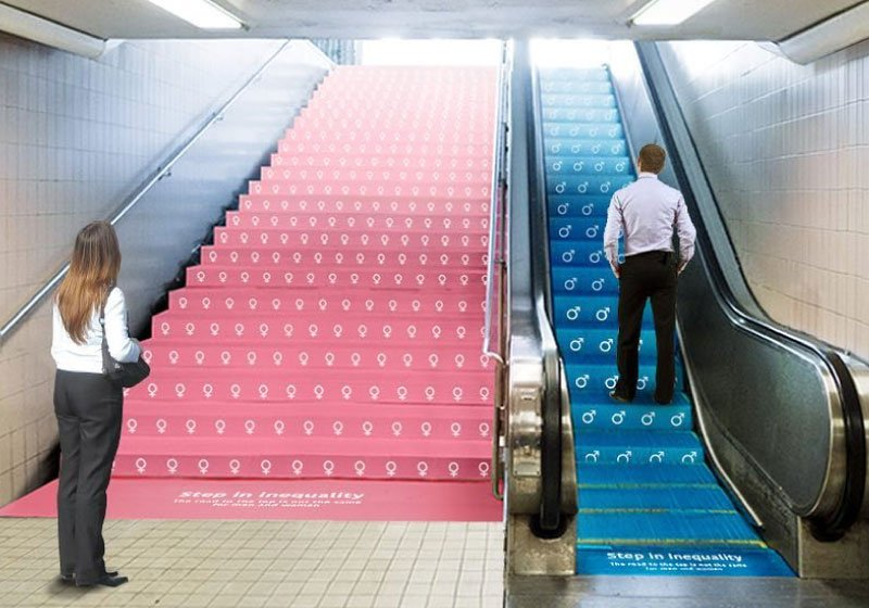 Step Inequality: opera d'arte sul divario di genere