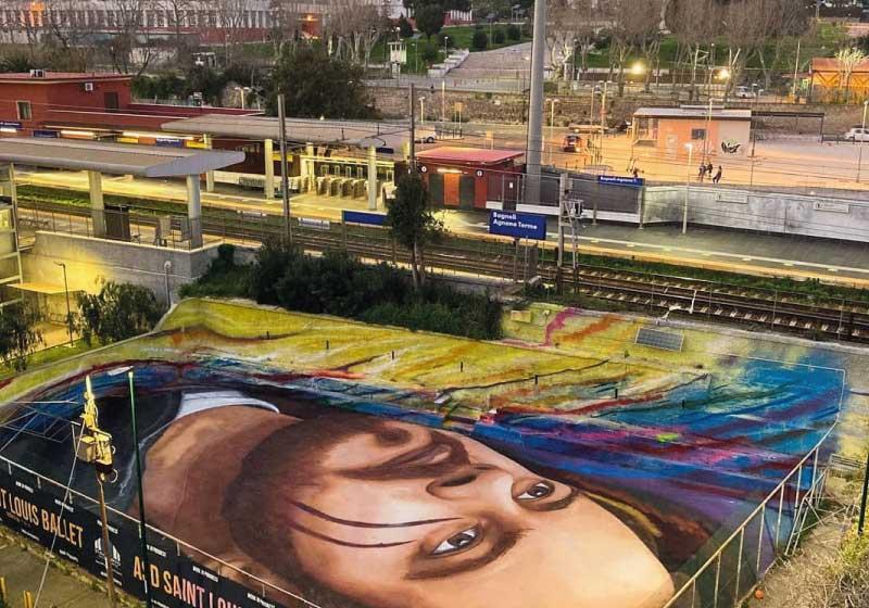 La nuova tela urbana di Jorit è Bagnoli, e non è un caso!